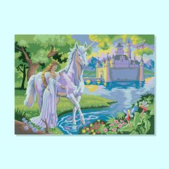 Royal and Langnickel Junior Paint by Numbers Fairy Castle