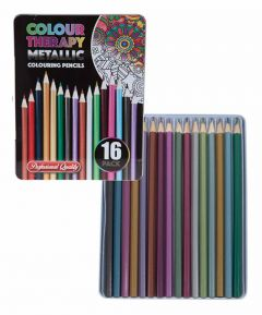 Colour Therapy 16 Piece Metallic Pencils