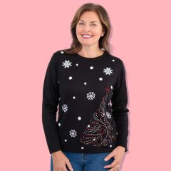 Ladies Fine Knit Christmas Jumper