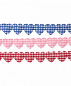 Ribbon - Gingham Hearts