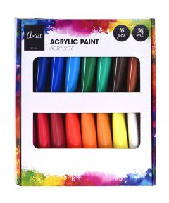 Acrylic Paints - 16 Pack