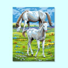 Twin Painting by Numbers - Horses