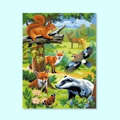 Twin Painting by Numbers - Woodland Animals