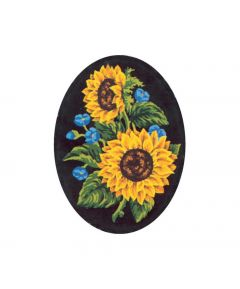 Collection D'Art Printed Tapestry Canvas Sunflowers