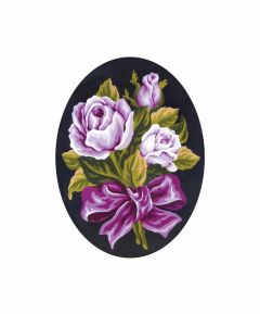 Collection D'Art Printed Tapestry Canvas Roses Posy