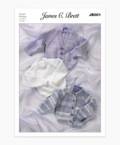James C Brett Children's  Jumper and Cardigans Knitting Pattern JB001