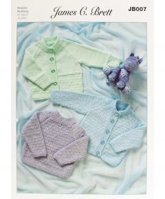 James C Brett Knitting Pattern DK Baby Cardigan Sweater JB007