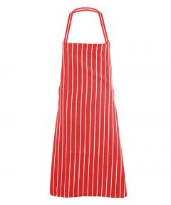 Red Butcher Stripe Apron