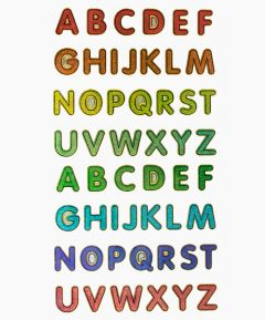 Adhesive Alphabet Stickers