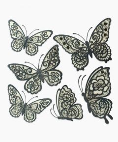 Lace Effect Butterfly Wall Stickers