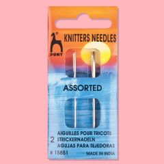 Gold Eye Knitters Needles Assorted Sizes - 2PK