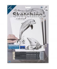 Sketching Made Easy - Dolphins