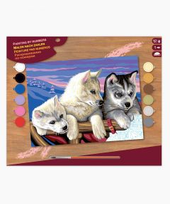 Painting By Numbers - Huskies