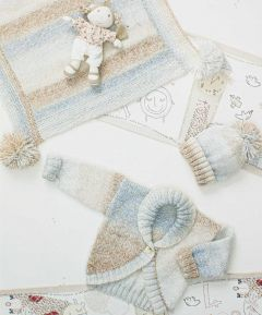 Knitting Pattern : Blanket, Hat & Cardigan