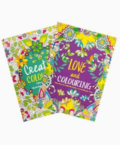 Colouring Book Creative Love - Set of 2