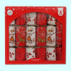 Holly & Robin Crackers - Pack of 6