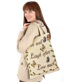 Live Well Tapestry Bag