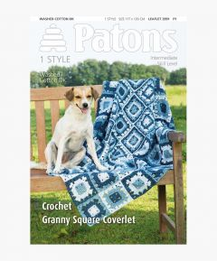 Pattern - Crochet Granny Square Coverlet