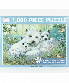 Westies in the Wood 1000 Piece Jigsaw Puzzle