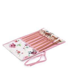Filled Knitting Needle Roll: Rosewater