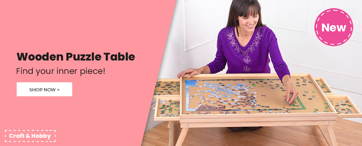 Wooden Puzzle Table