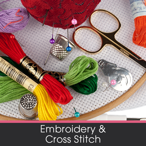 Shop our range of Embroidery and Cross Stitch